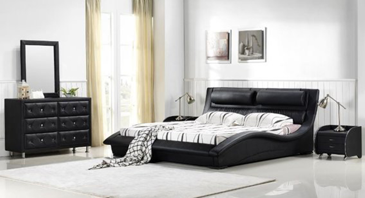 Napoli Modern Bedroom Set ( Black)