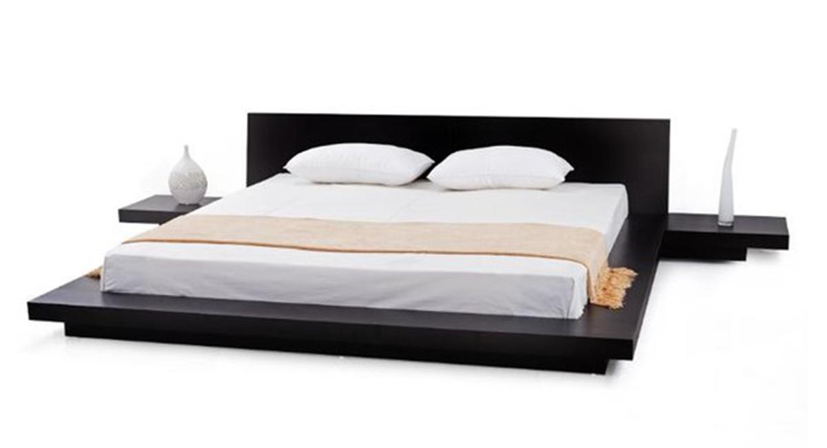 Fujian Modern Platform Bed (Espresso)