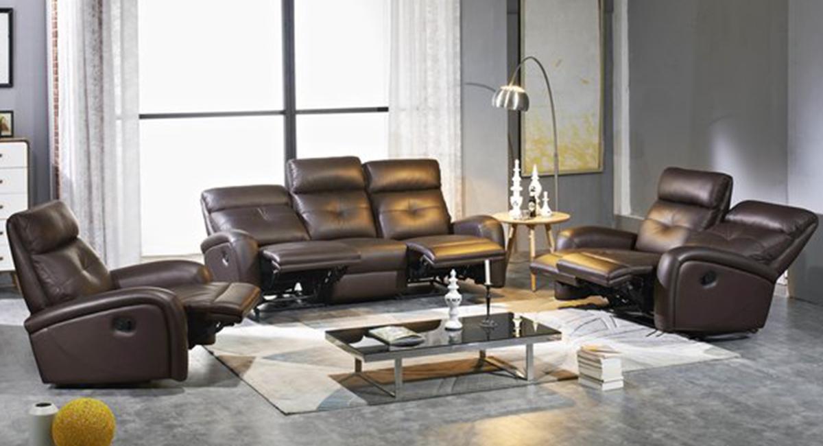 Omega Leather Recliner Sofa Set - matisseco