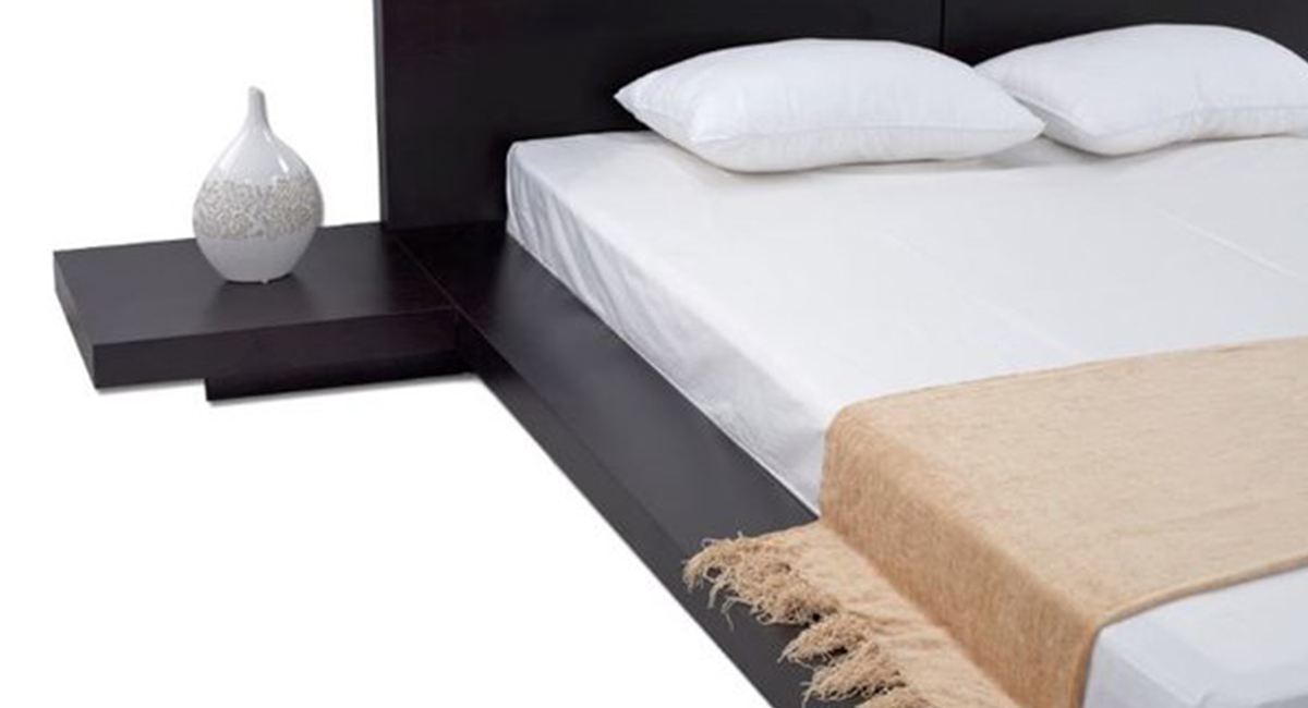 Picture of: Fujian Modern Platform Bed Espresso Matisseco