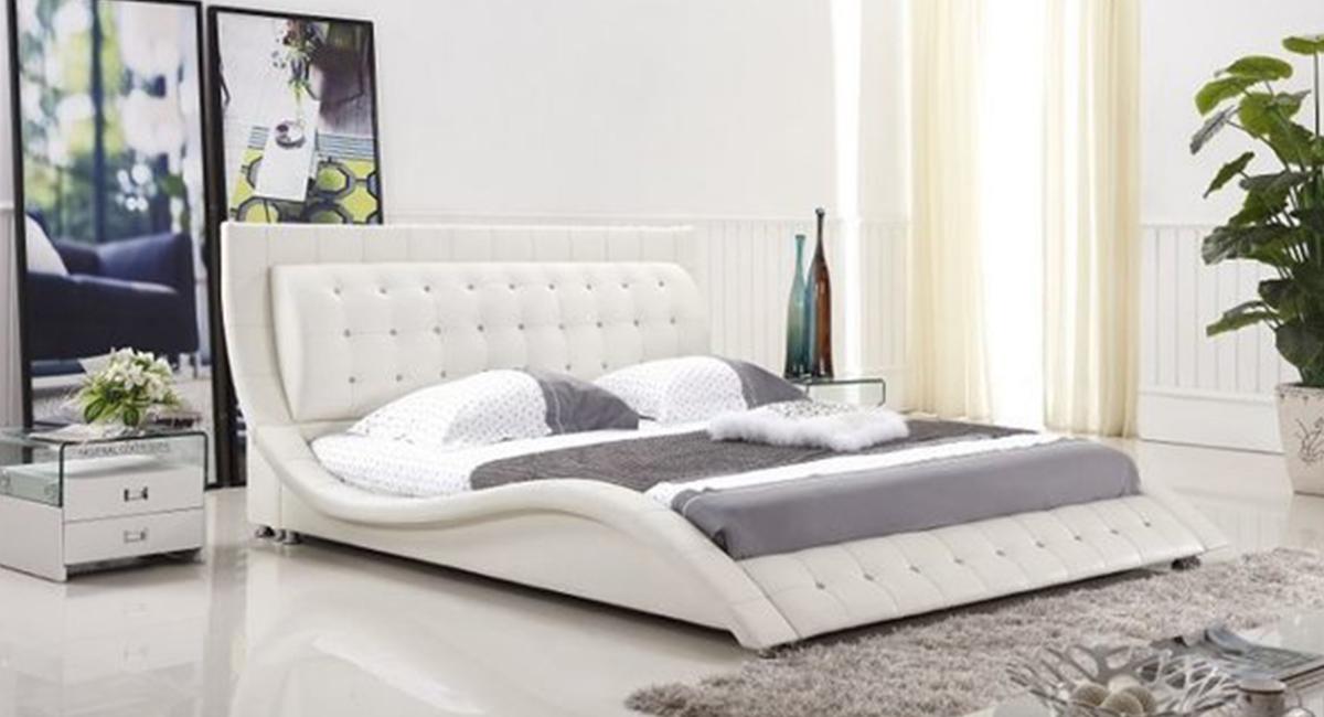 Dublin Modern Platform Bed (White)
