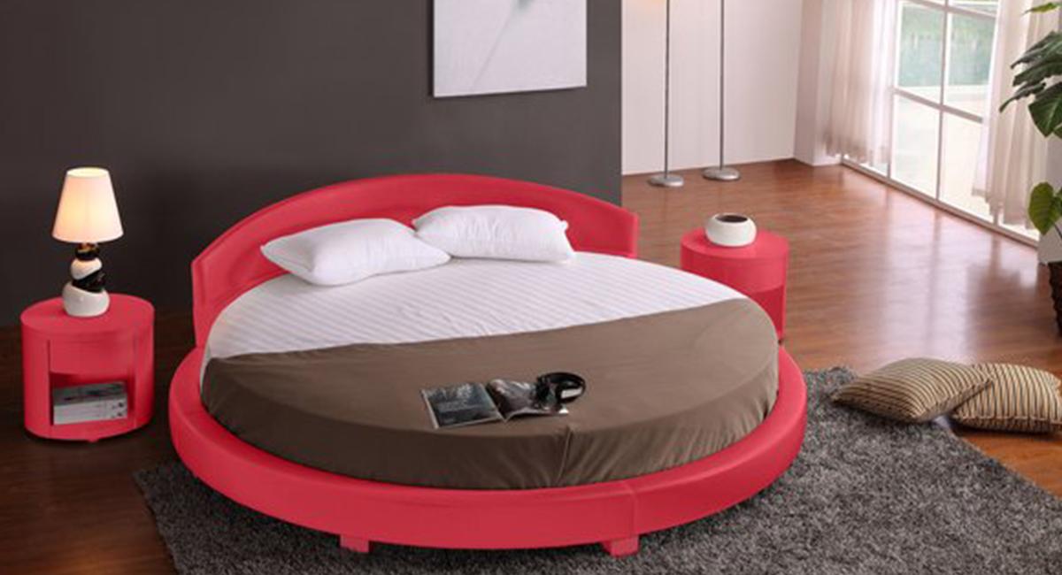 Panda Round Bed Red 87 Diameter