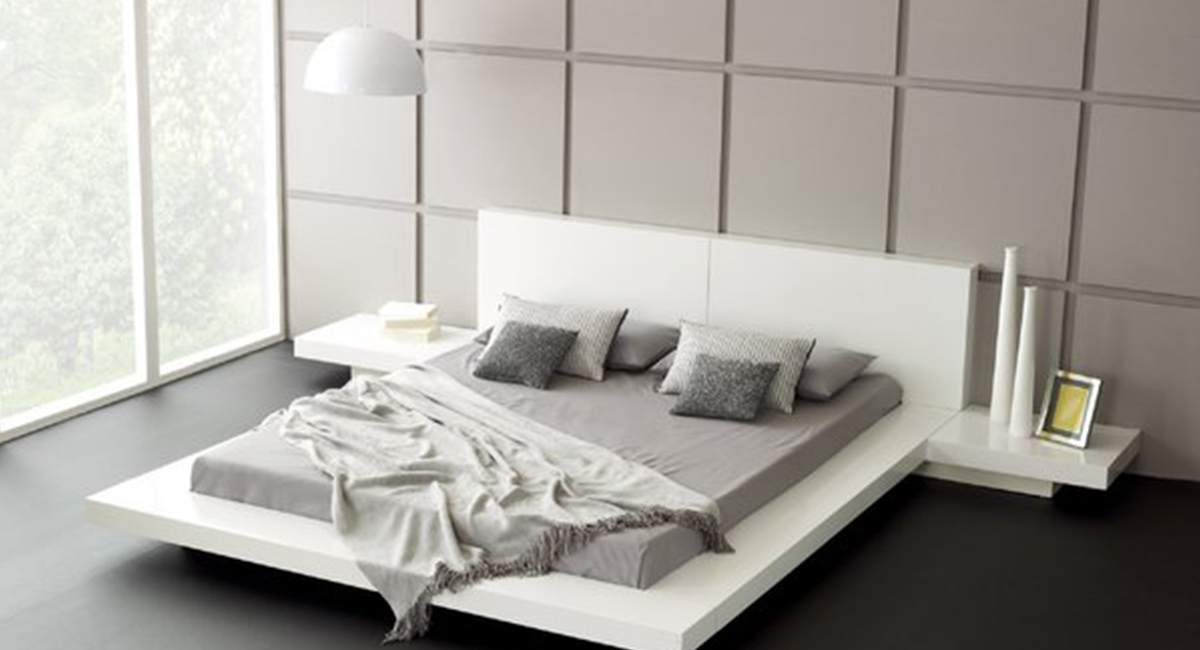 b48670ee7d Fujian Modern Platform Bed (Glossy White). 31. Touch to zoom