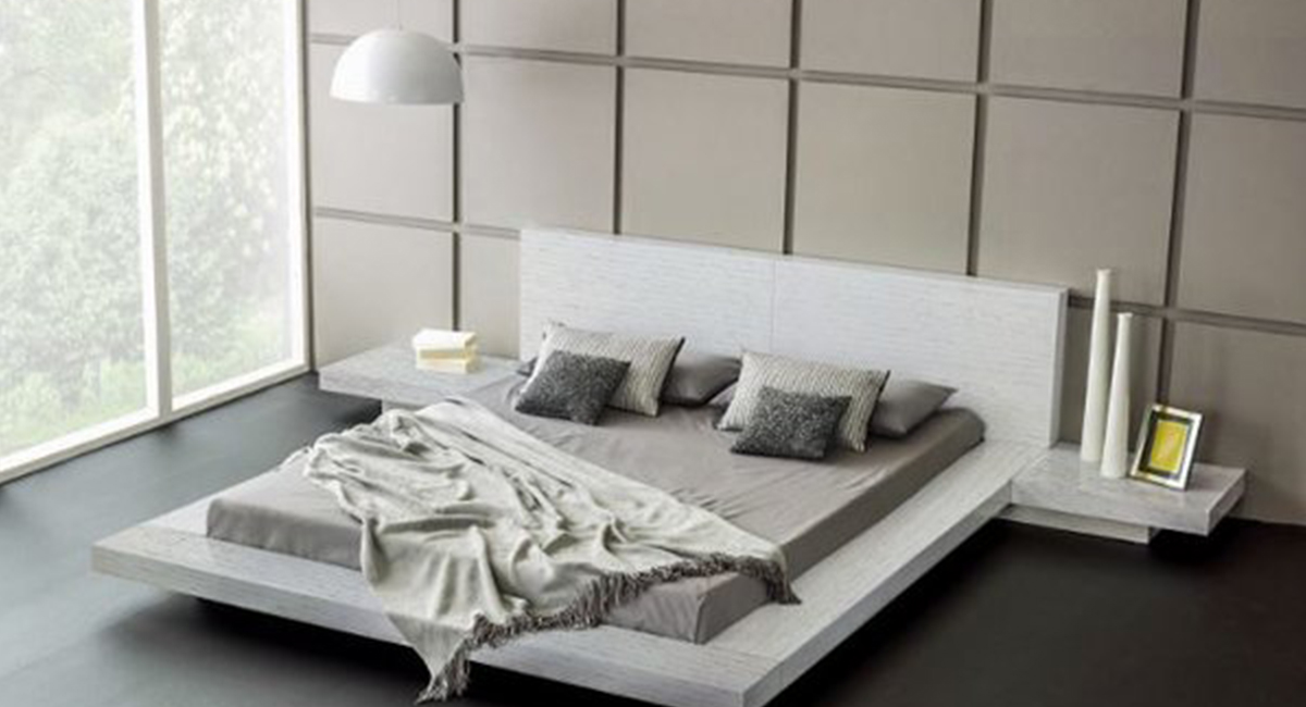 fujian modern platform bed (ash white) matissecotouch to zoom