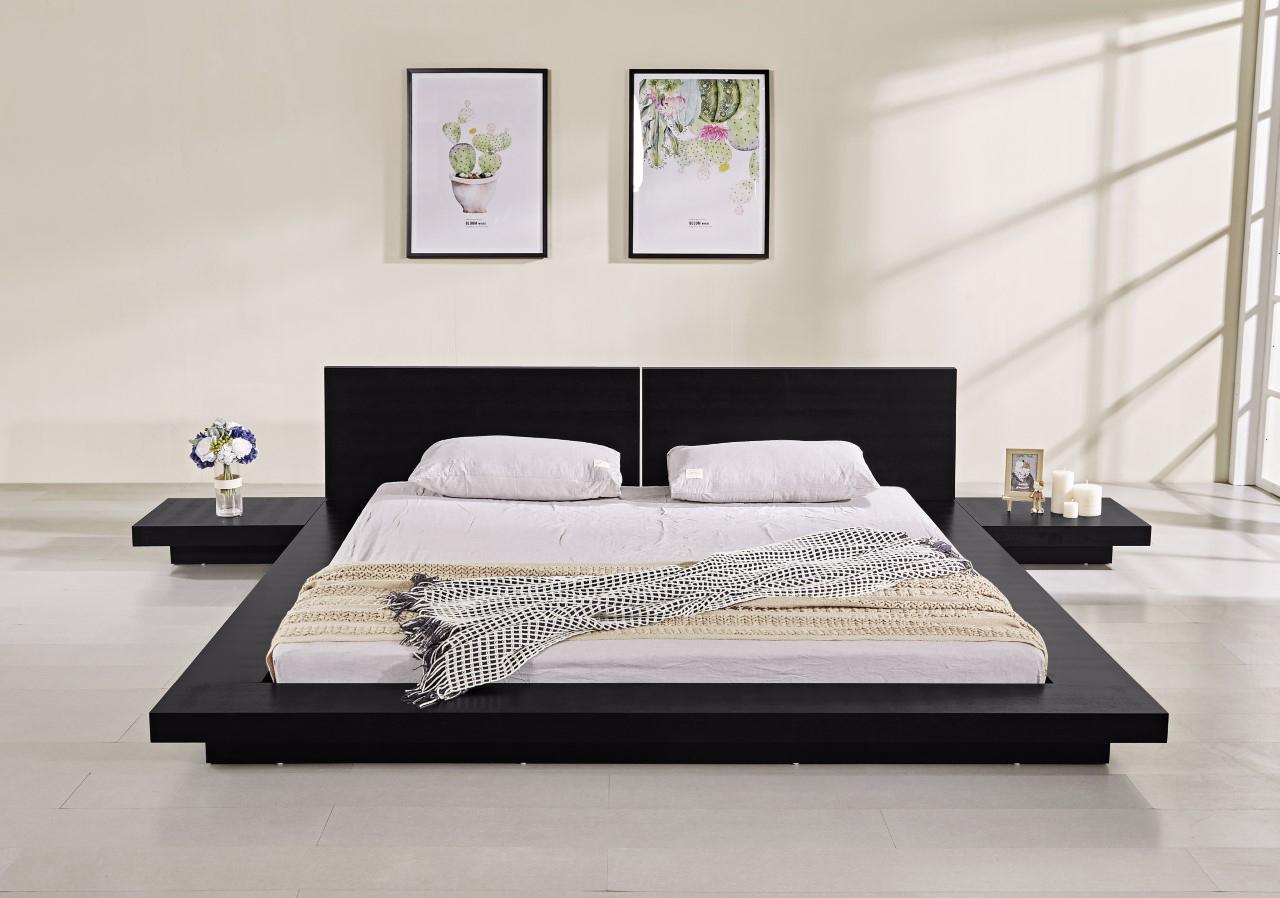Fujian Modern Platform Bed (Ash Black)