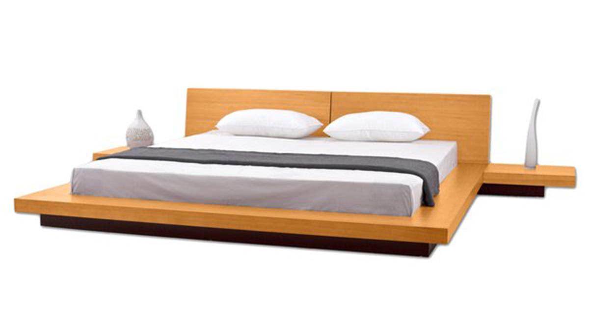 . Fujian Modern Platform Bed   Oak